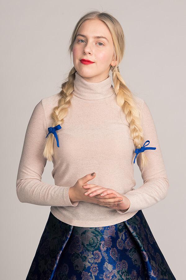 The story of Paola / Priča o Paoli – turtleneck pattern by Named Clothing