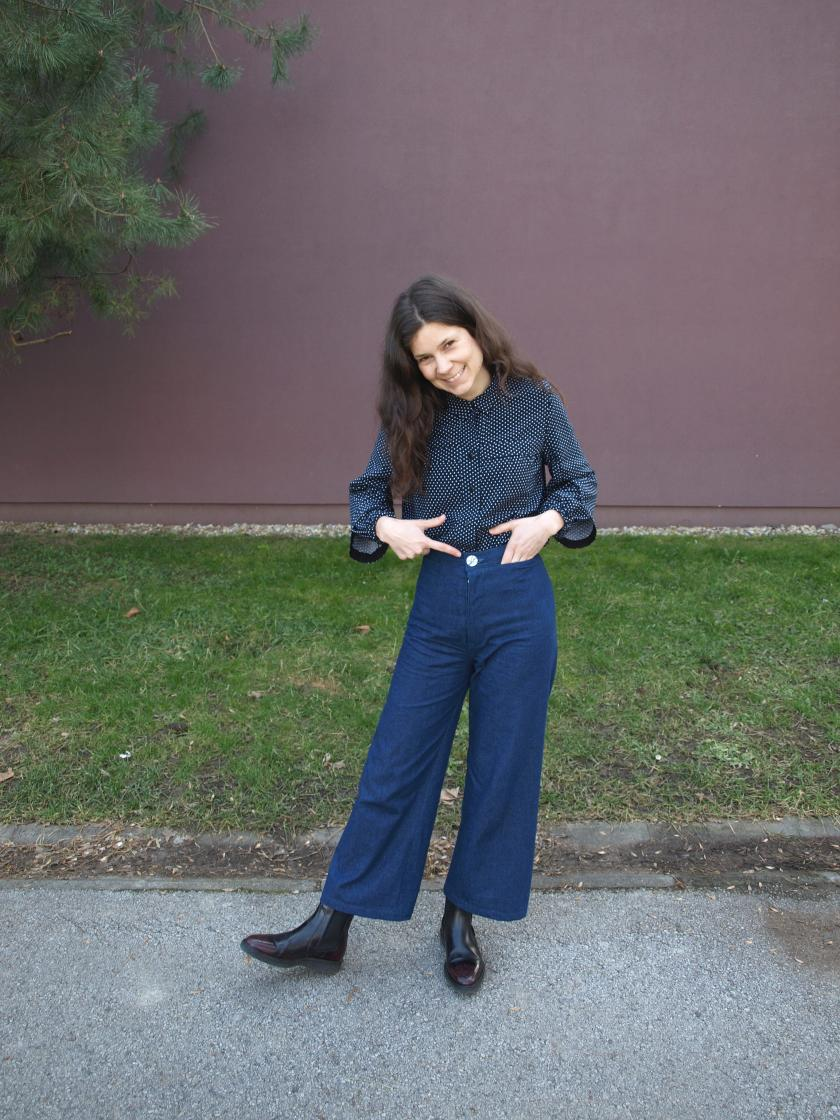 A symphony of a dream outfit with Persephone pants – pattern by Anna Allen Clothing